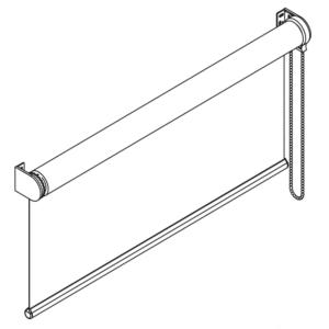 F101 свободновисящая роликовая штора схема