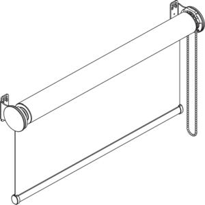 F105 свободновисящая роликовая штора схема