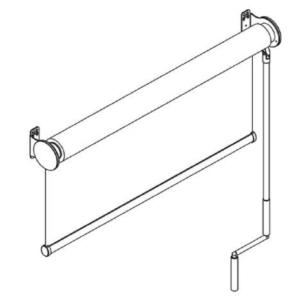 F106 свободновисящая роликовая штора схема
