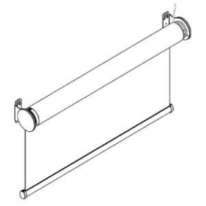 F107 свободновисящая роликовая штора схема