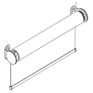 F109 свободновисящая роликовая штора схема