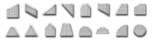 нестандартные формы горизонтальных алюминиевых жалюзи