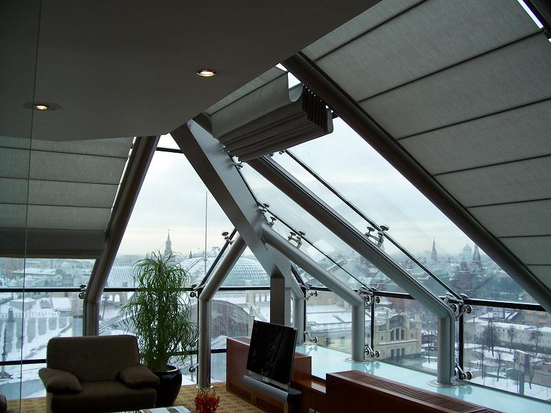 потолочная римская штора Winter Meeting (фото 1)