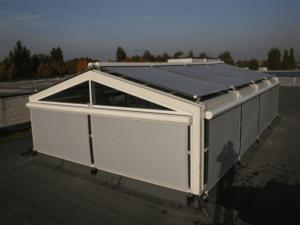 Внешние солнцезащитные системы для остеклённых крыш