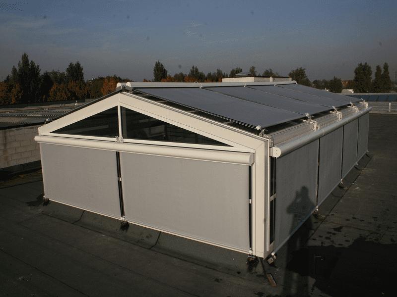 Внешние солнцезащитные системы для остеклённых крыш (фото 1)