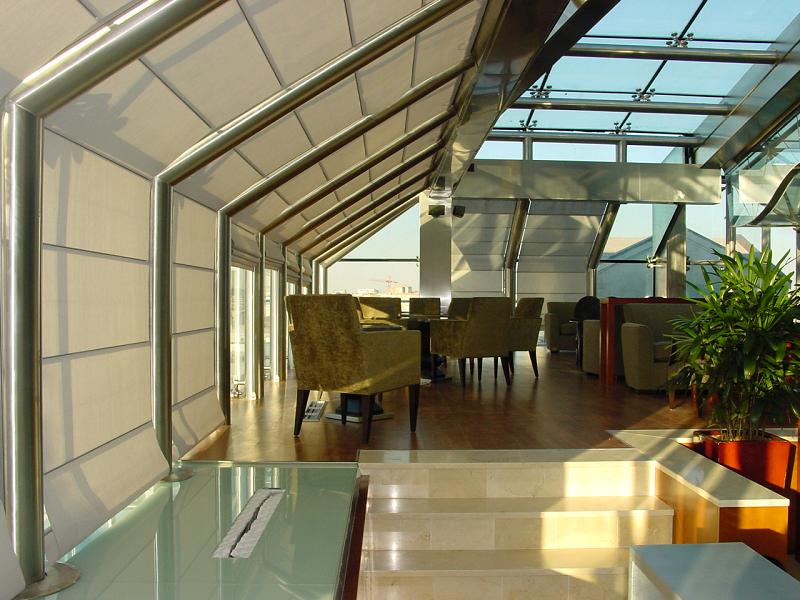 потолочная римская штора Winter Meeting